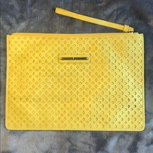 🆕The Limited Yellow Clutch with Lazercut Design